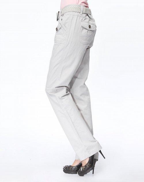 女装混合专场森马 淡灰色休闲长裤图片