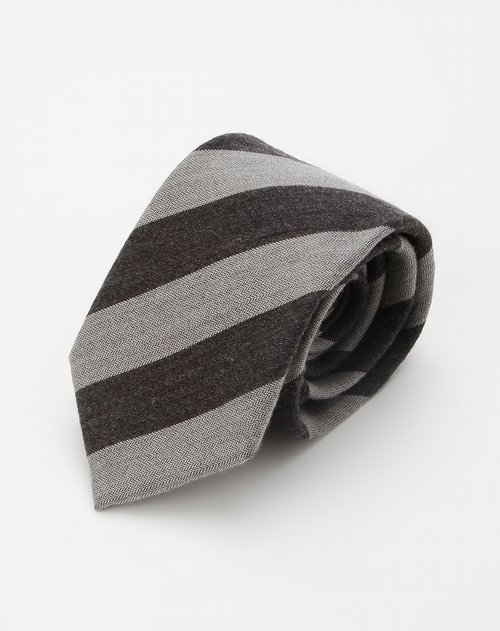 hazzys-男装浅灰/深灰色条纹时尚领带