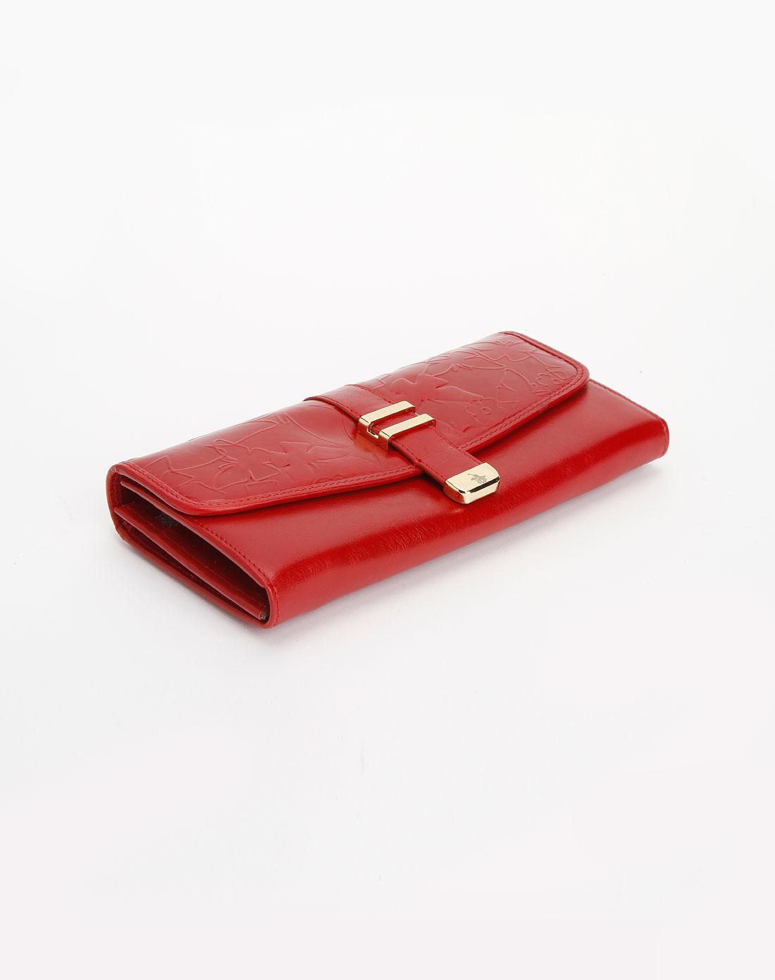 红色时尚潮流钱包_圣大保罗女包特价1.9-3