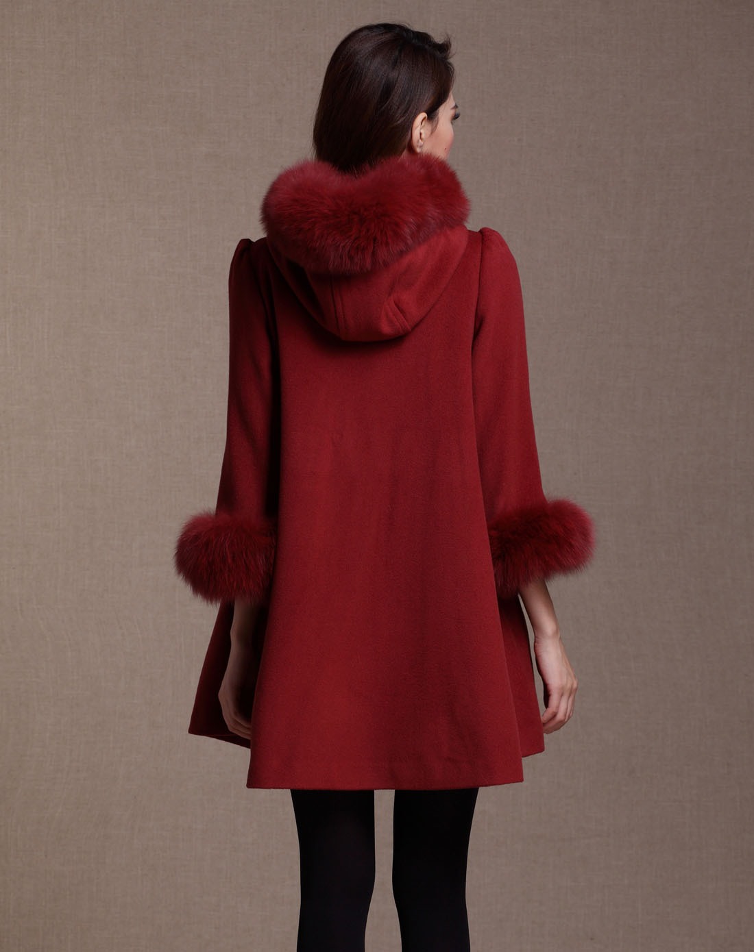 zimmur女款暗红色大衣z12qdc691r3
