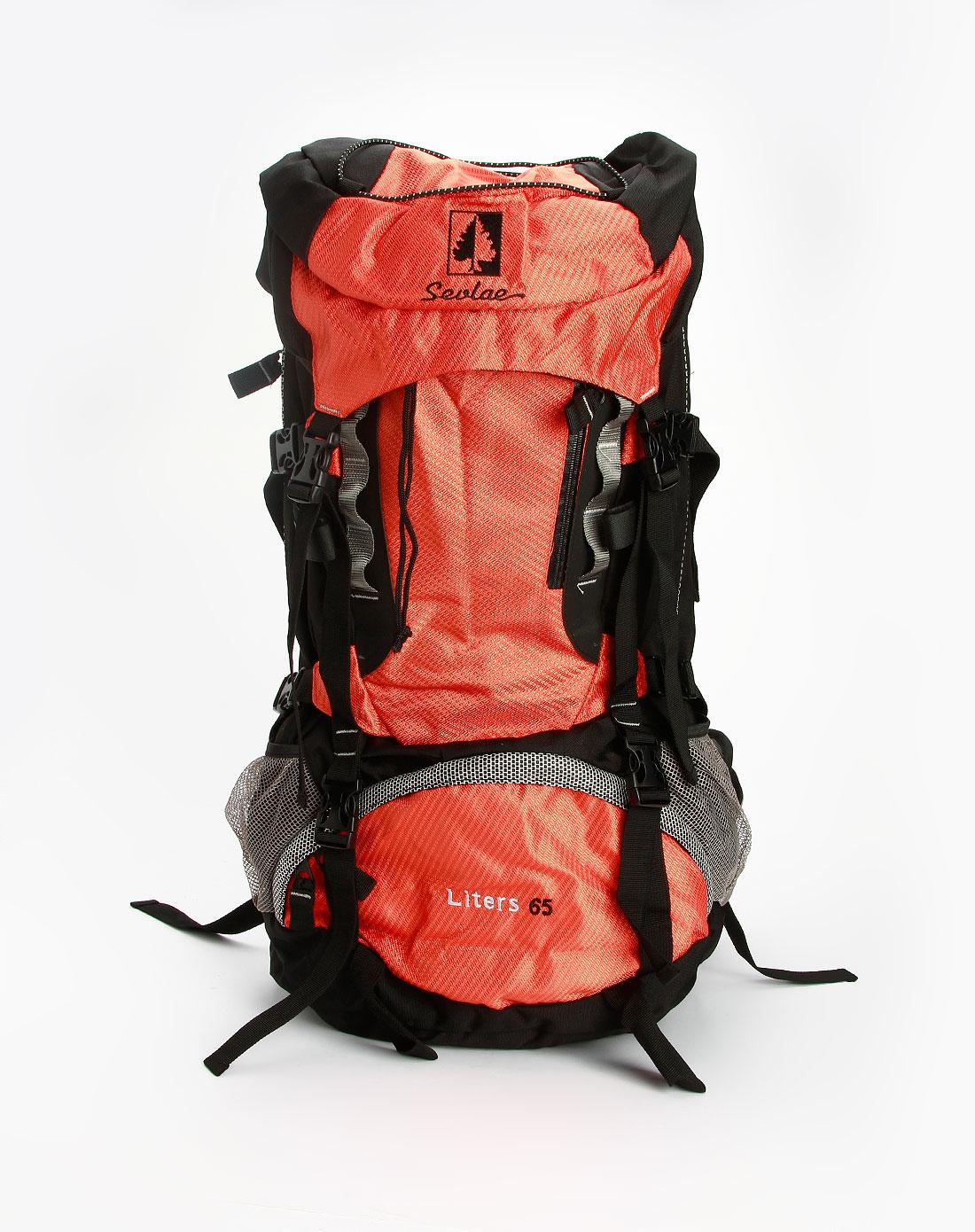黑/橙色休闲登山包