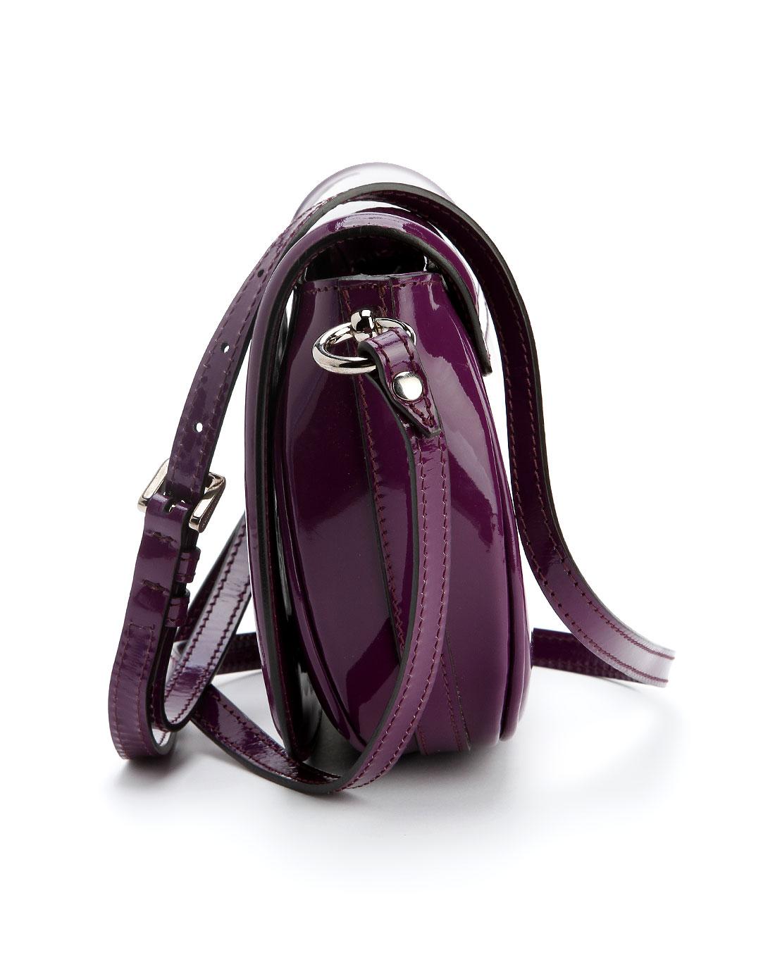 burberry名品特惠专场女款紫色个性斜挎包