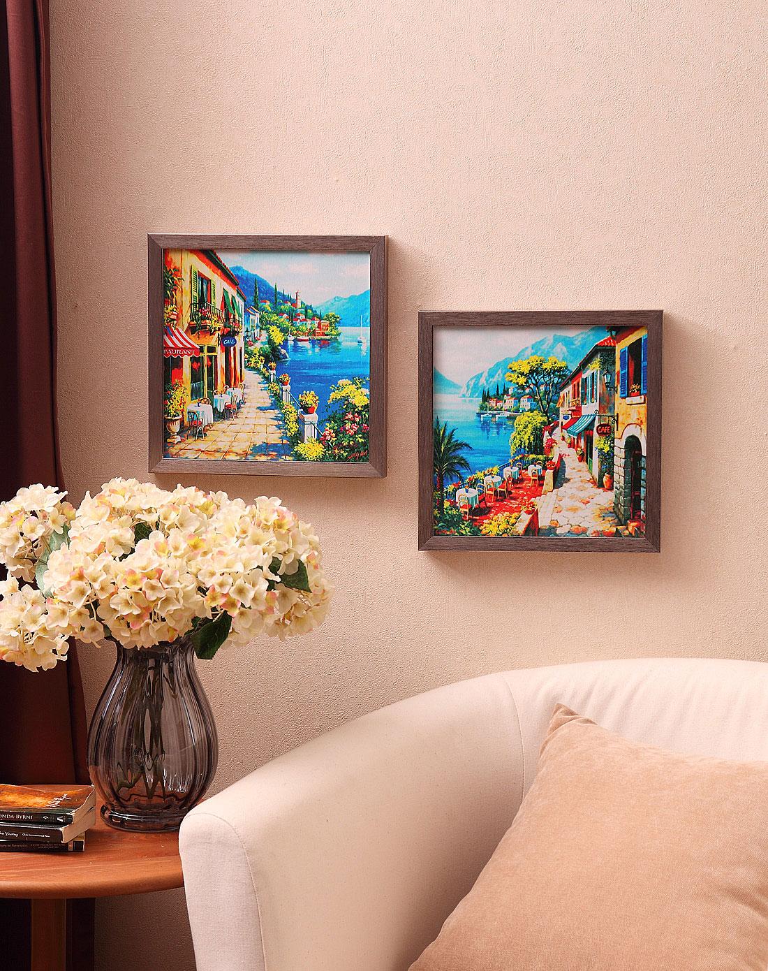 首页> 荷玛heim家居专场 > 地中海风装饰画-咖啡小镇一对