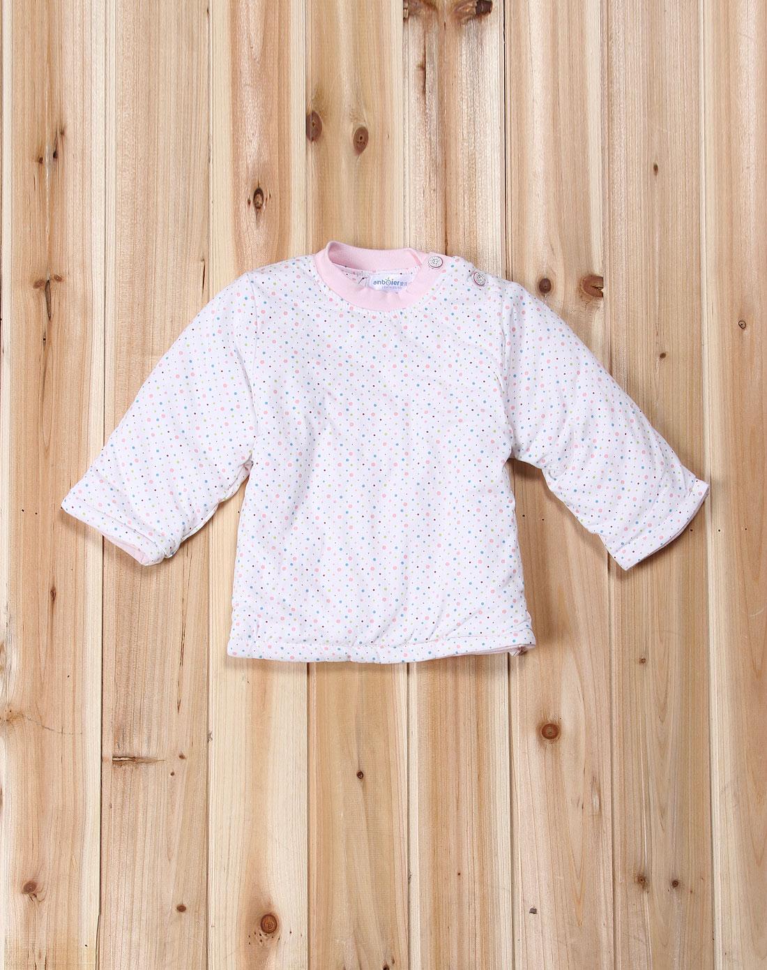 安贝儿 中性粉色芭比兔长袖二件棉套