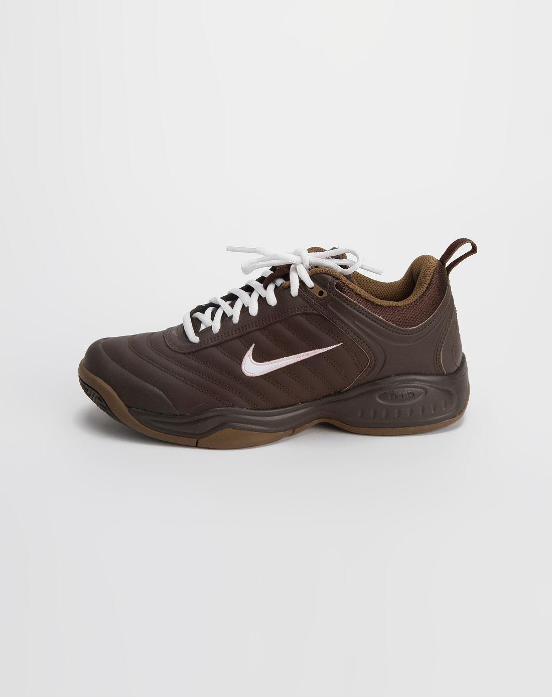 耐克nike男女装女款灰啡色网球鞋317904-211