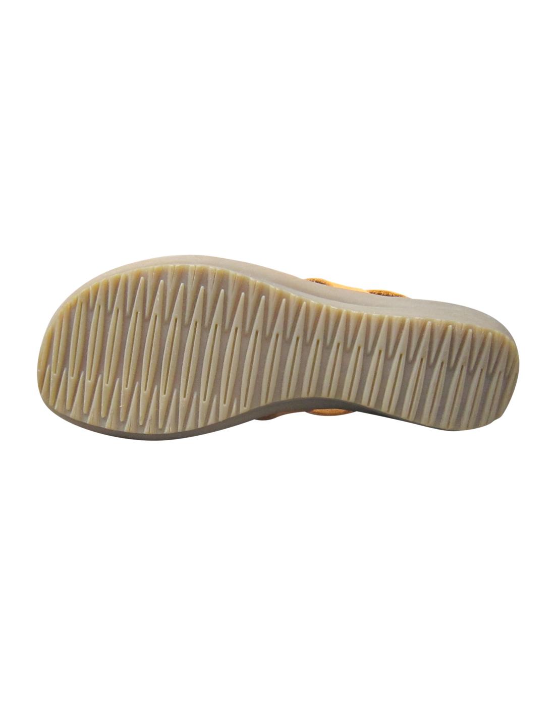 宝曼妮belmani女款土黄牛皮低跟罗马凉鞋112-13777