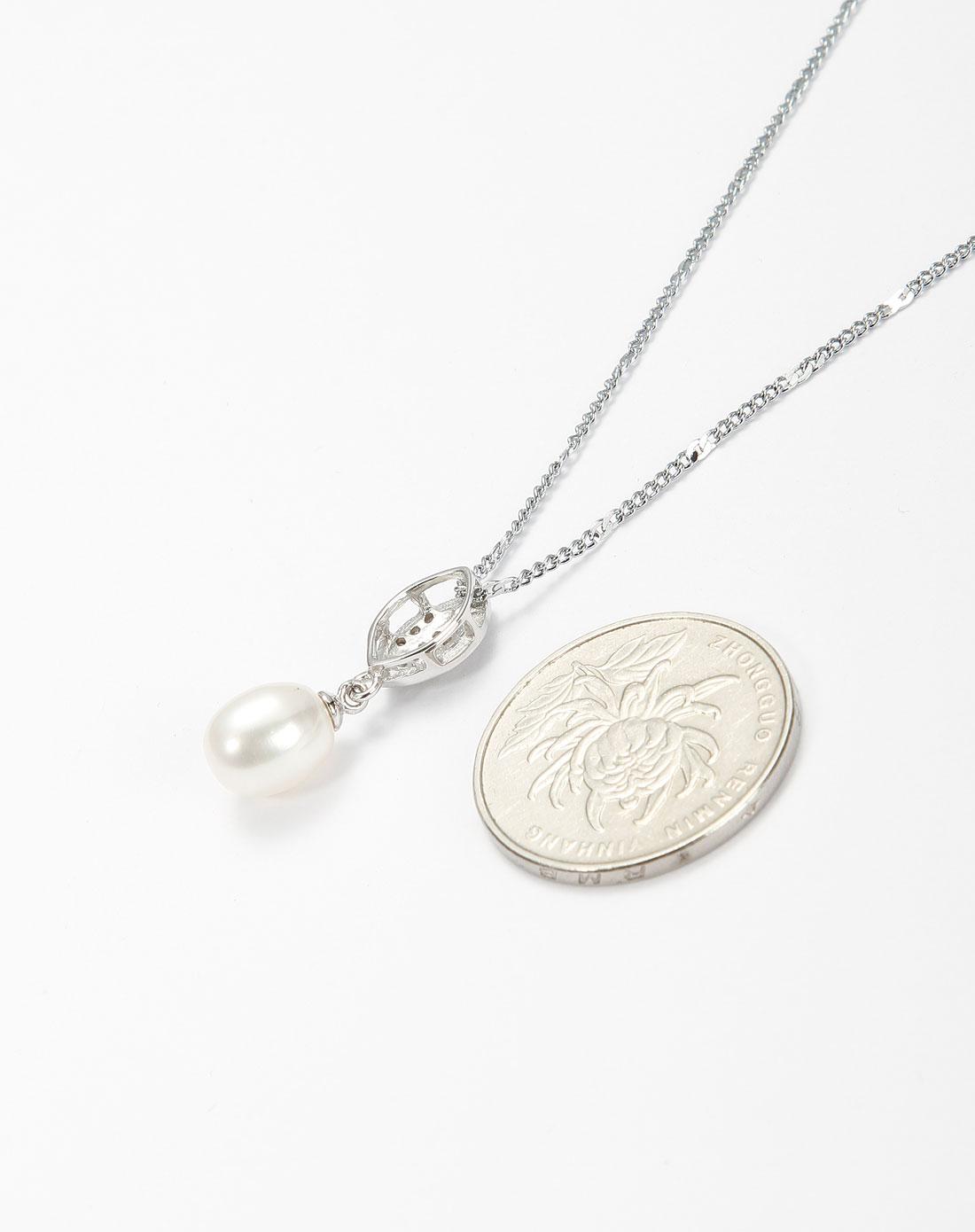 白色天然白珍珠精致项链