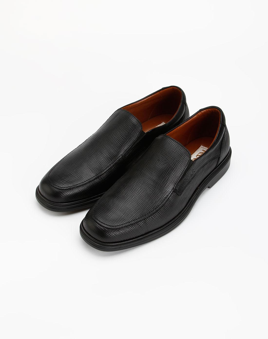 男款黑色牛皮鞋子_路宝rover特价
