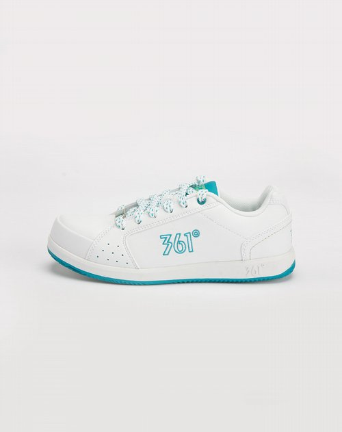 361°女装专场白色休闲板鞋