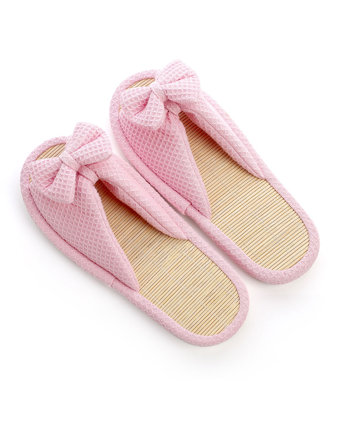 女式蝴蝶结细竹拖鞋