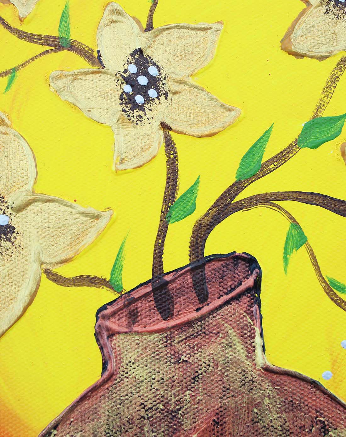 手绘油画-金钱树