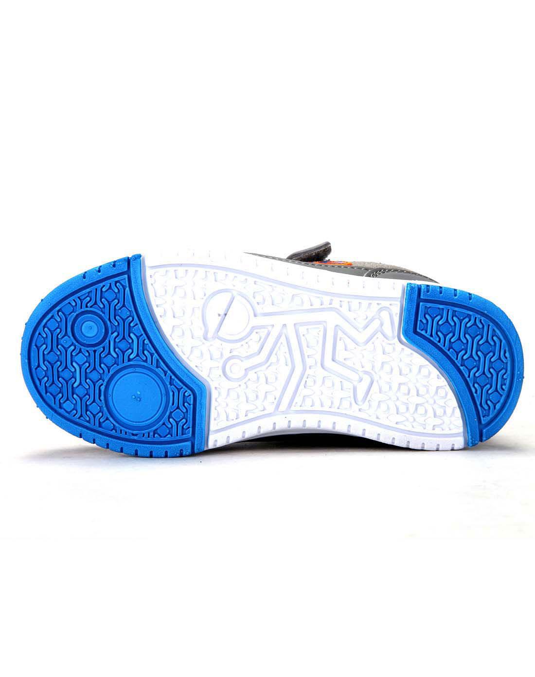 abckids男女童鞋男款小童中灰/宝蓝运动鞋y2322215d