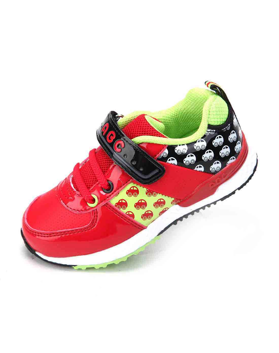 abckids男女童鞋男款小童红黑运动鞋y2322328d-6003