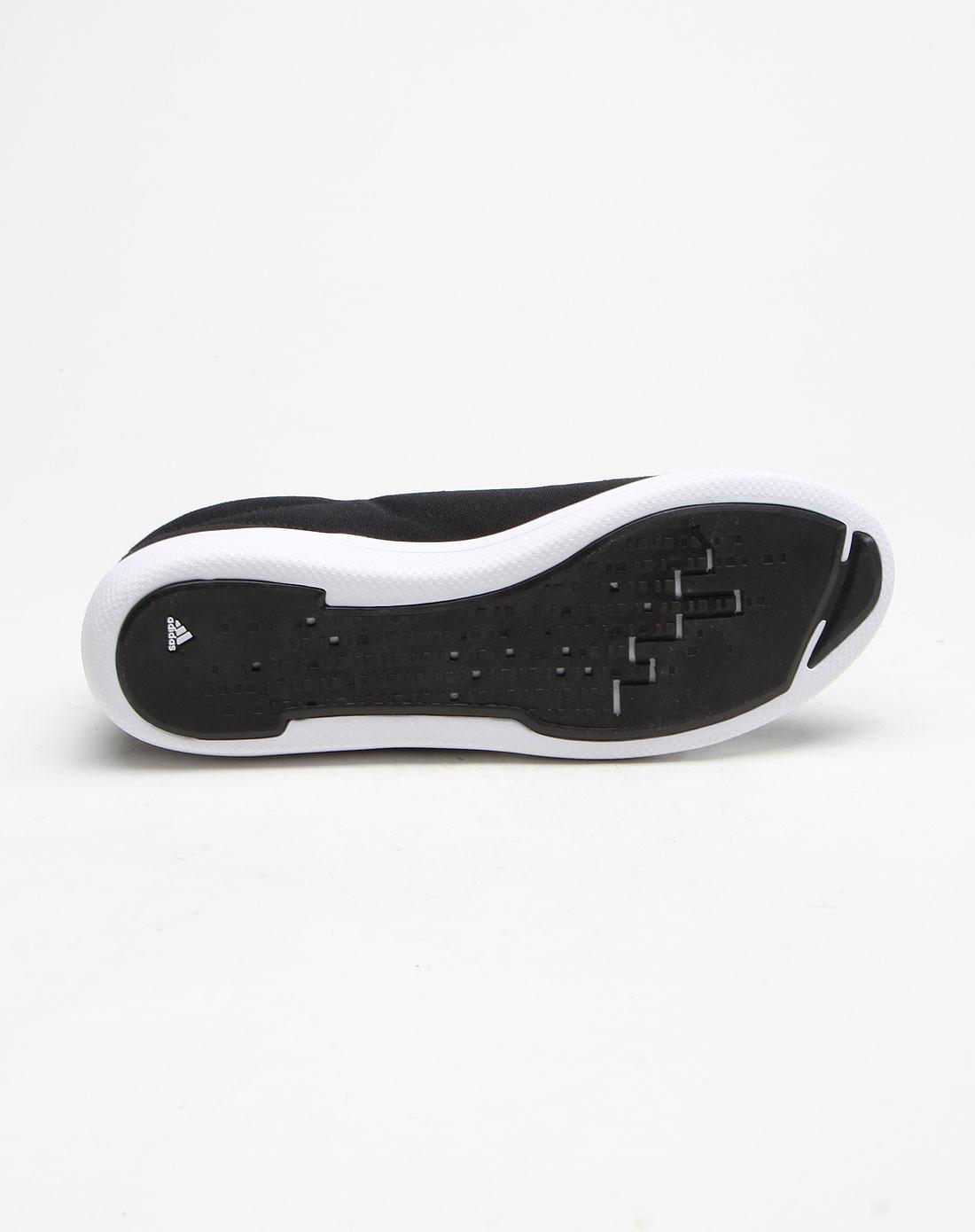 阿迪达斯adidas简约休闲白底黑色运动鞋g50710