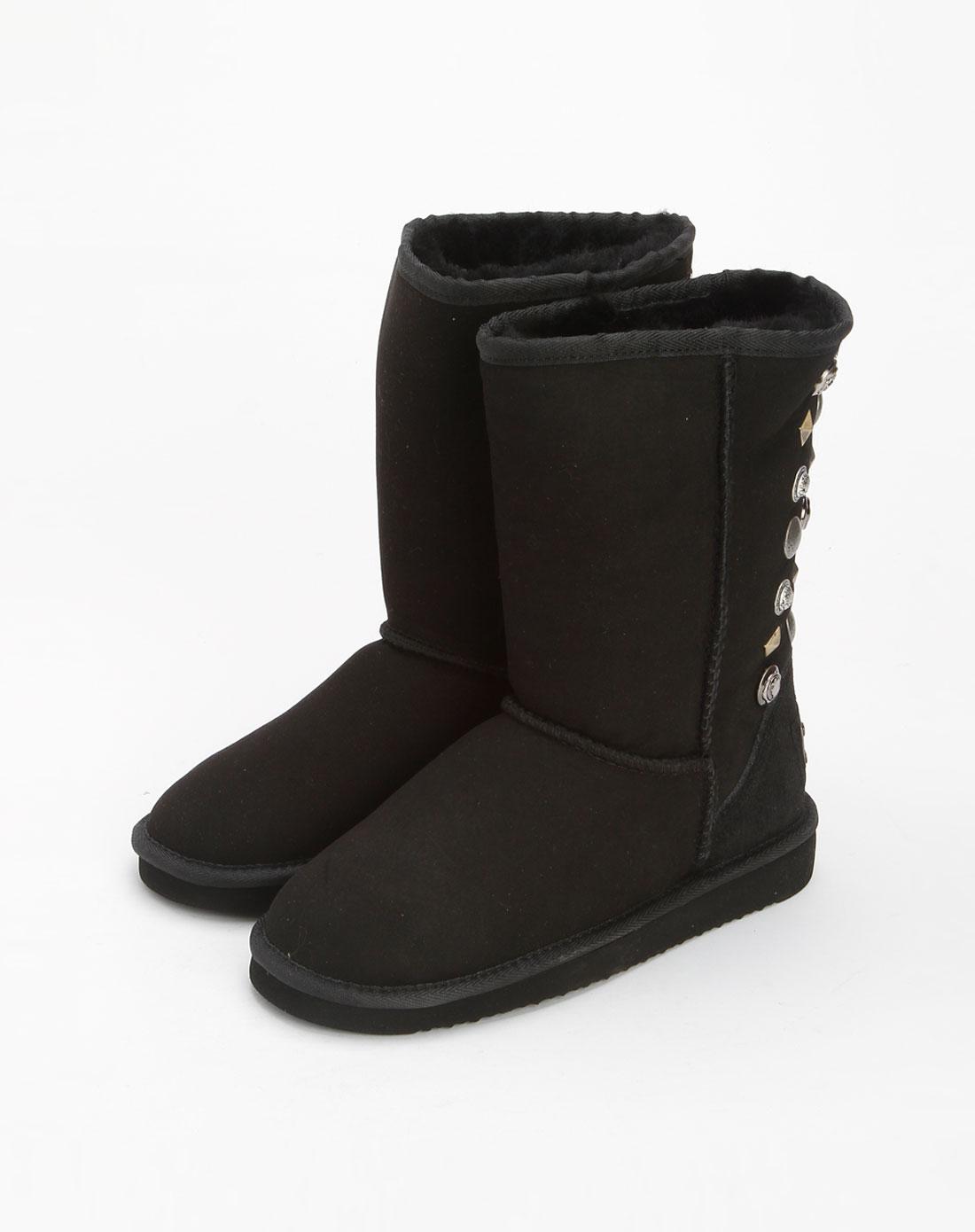 女款黑色雪地靴