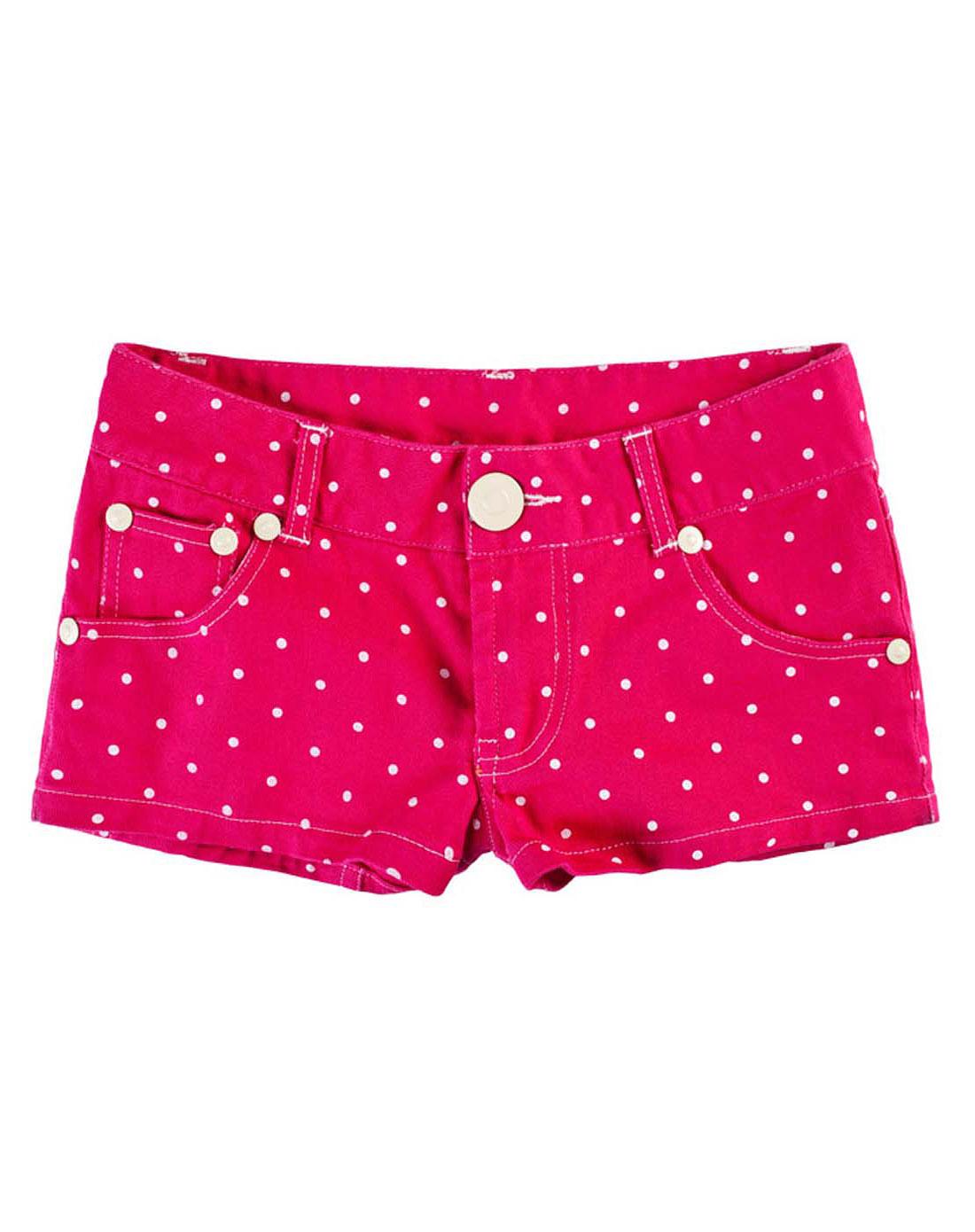 七格格旗下品牌玫红色热裤22e911918
