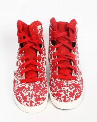 耐克nike女子红色复古鞋528900-600