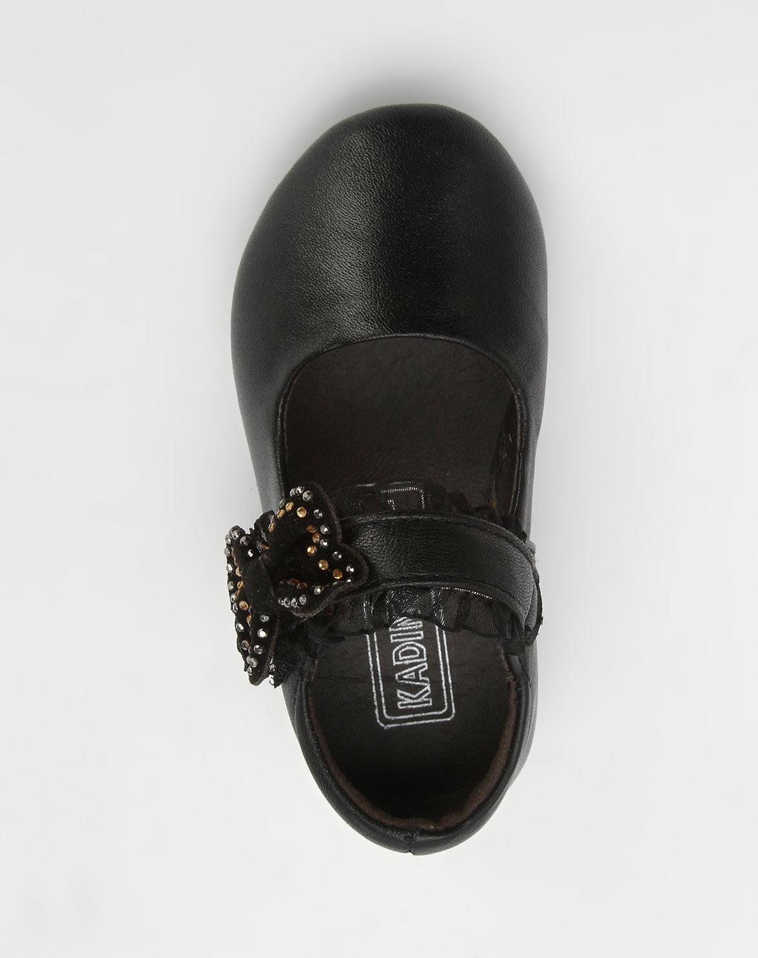 女童黑色皮鞋_卡丁童鞋