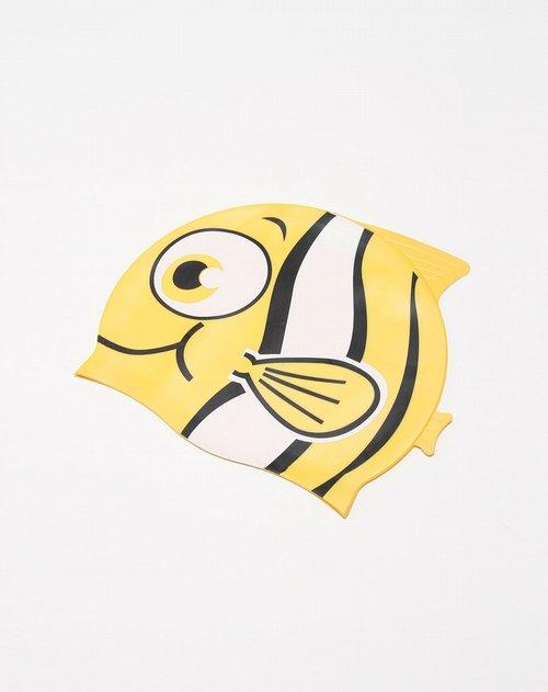 海浪 童款黄色动物图案泳帽