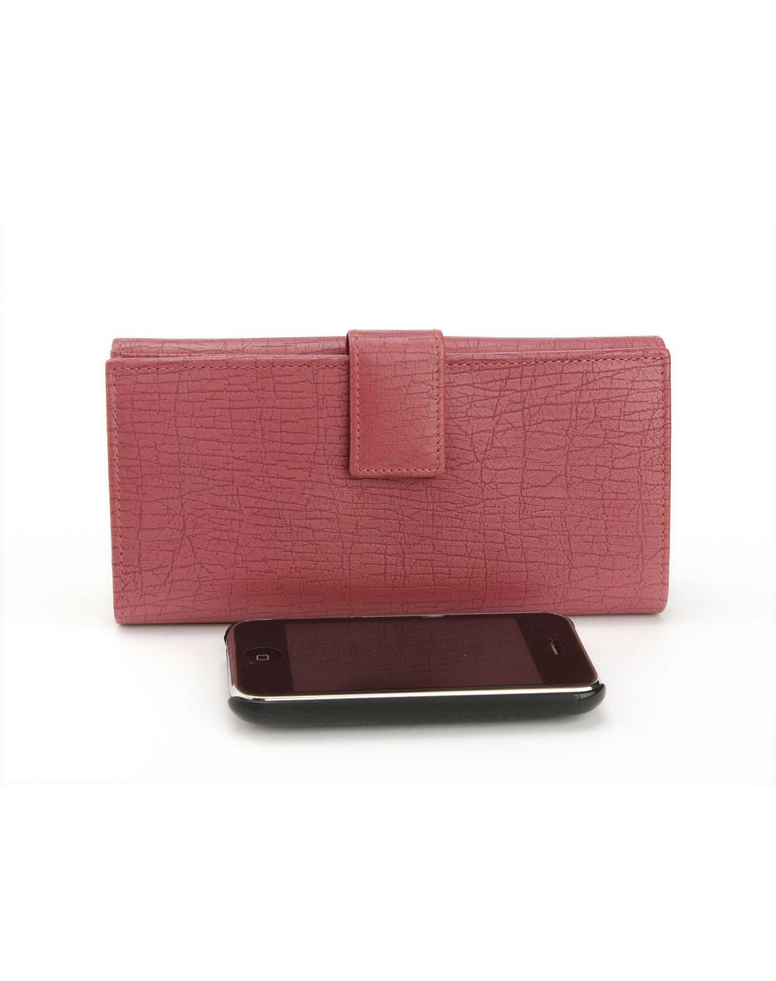 奢华钱包专场gucci女款紫红色压纹钱包g1025014
