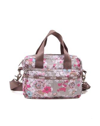 乐播诗lesportsac箱包专场粉红色时尚印图化妆包