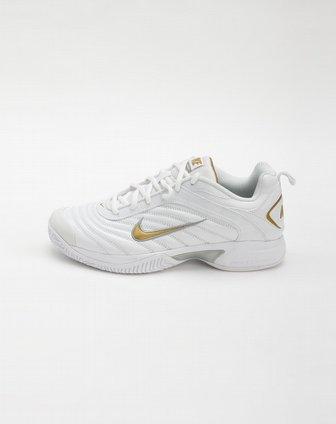 耐克nike男款白/金色标志网球鞋396047-102