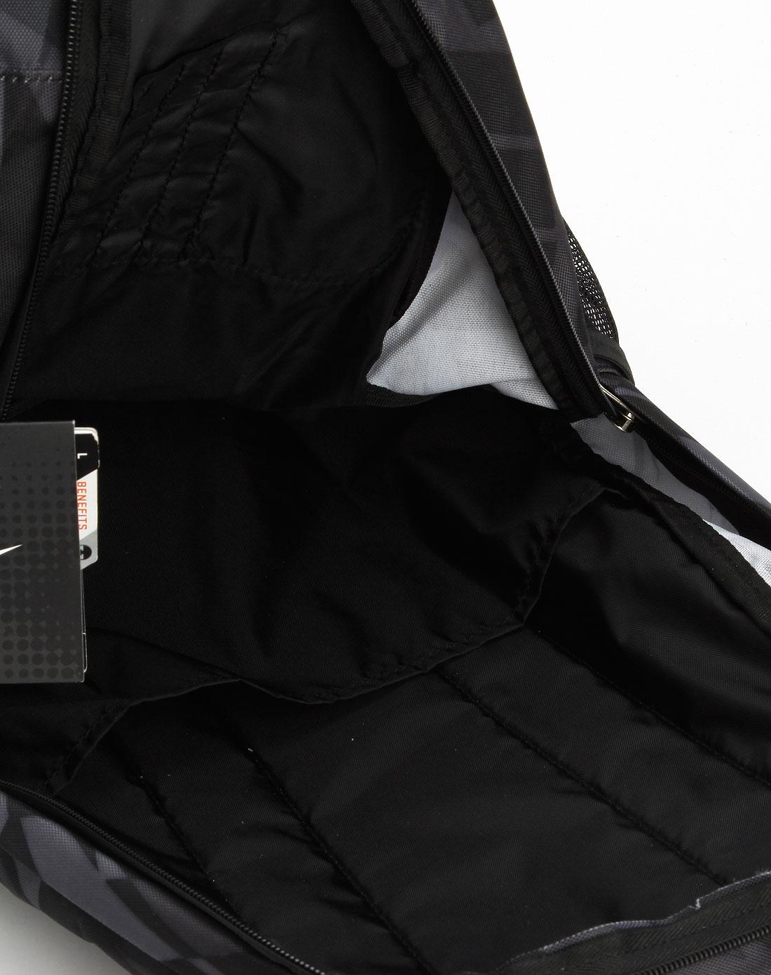 耐克nike-男装专场黑/深灰色双肩背包