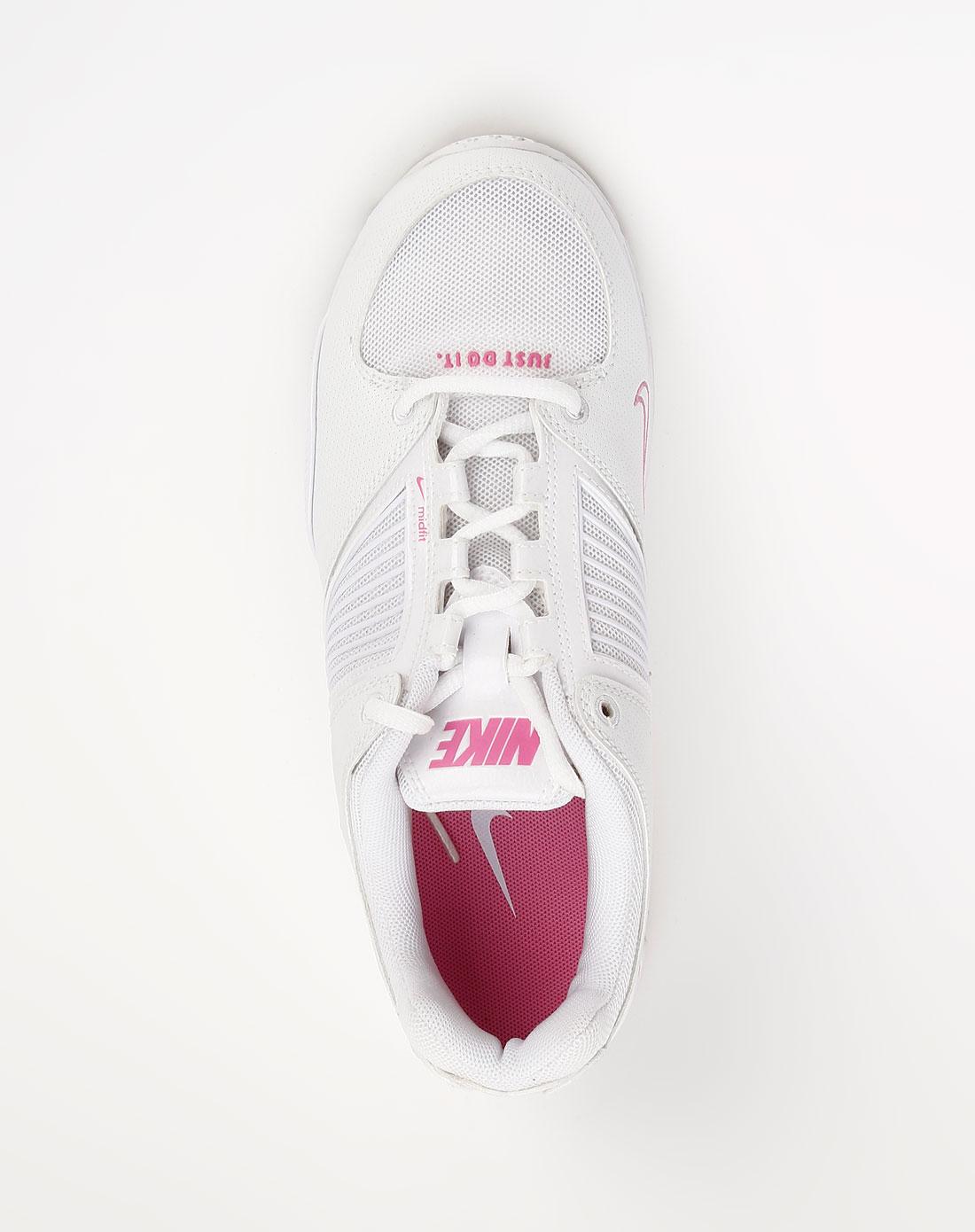 女款白色系带全能运动鞋
