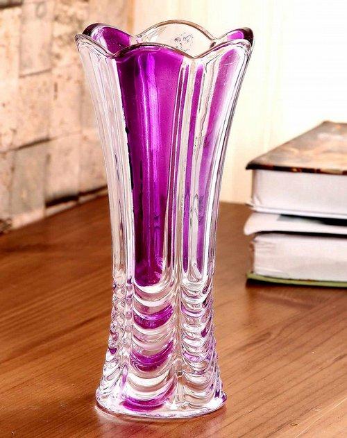 欧式水晶玻璃花瓶-窗帘花紫