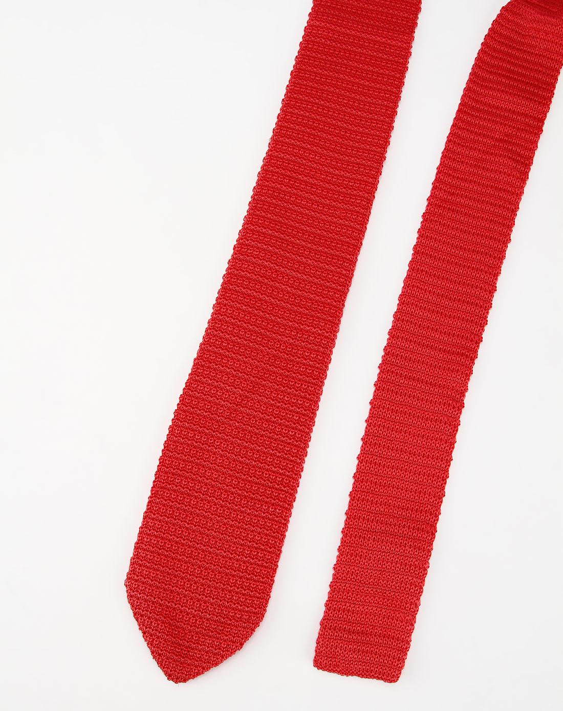 hazzys-男装西瓜红色针织时尚领带