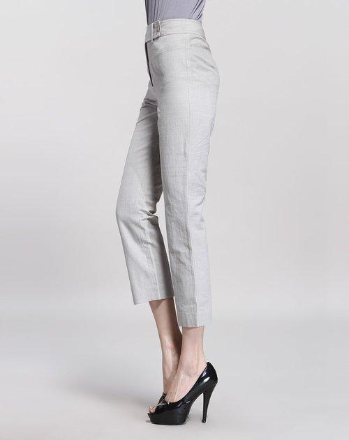 谷子 灰白色简约时尚长裤