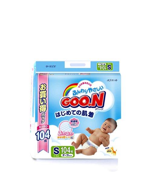 纸尿裤/尿不湿s104*2(4-8kg)104片(整箱)(两包入)(赠送宝贝可爱湿巾)