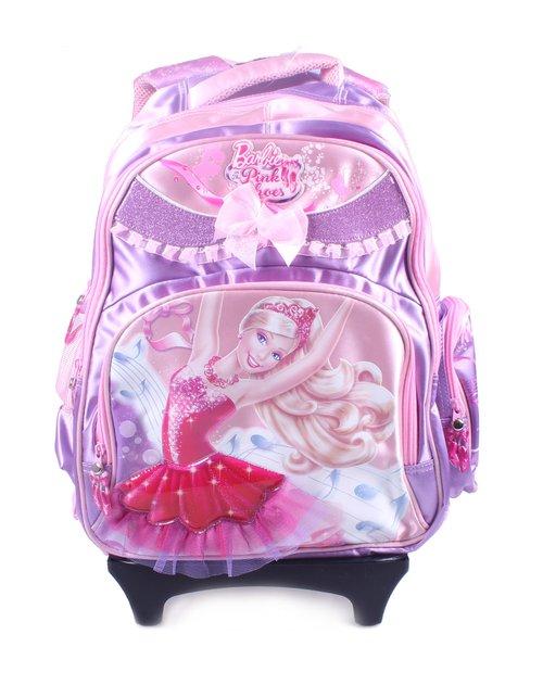 kitty&芭比barbie用品混合专场芭比-拉杆书包