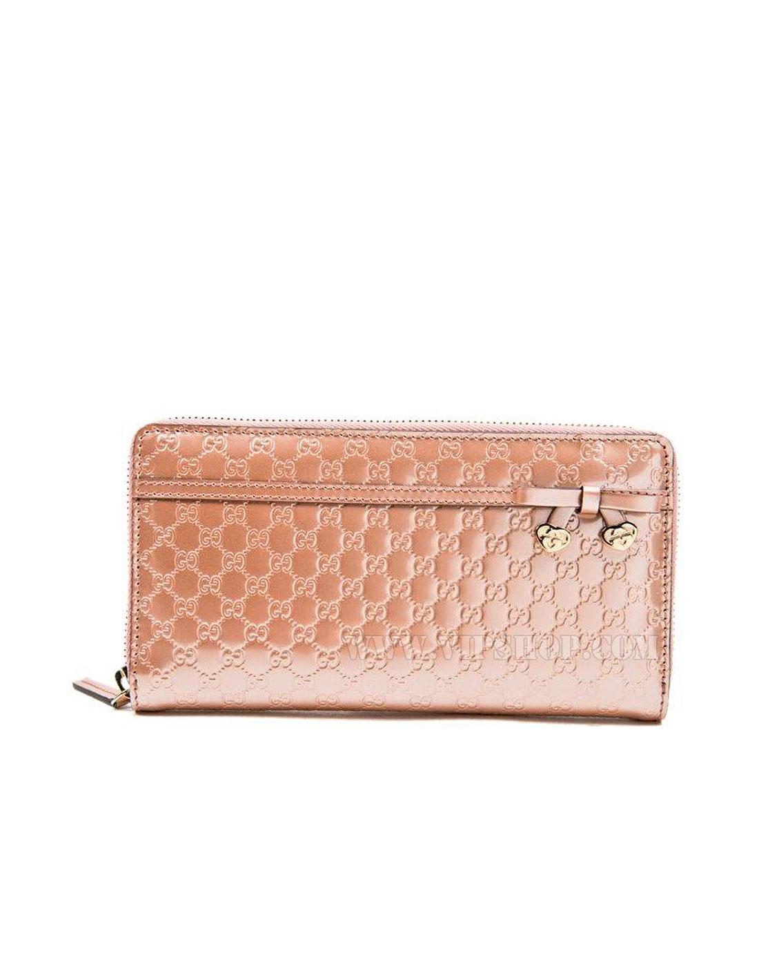 女款真皮钱包粉色