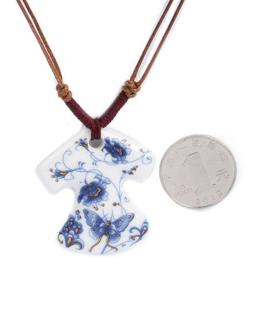 花瓷手绘陶瓷项链