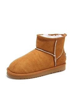 棕色休闲雪地靴